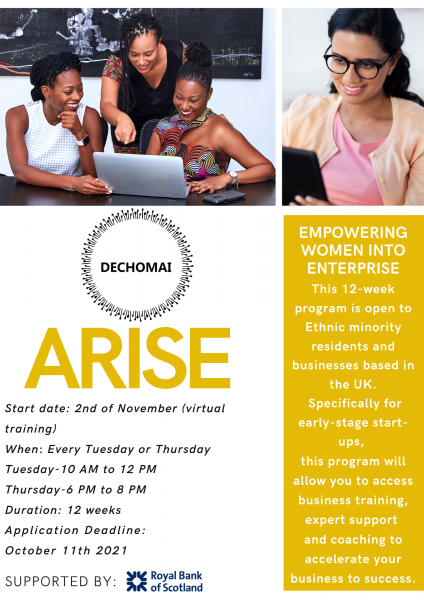 Arise flyer Page 1