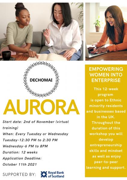 Aurora flyer Page 1